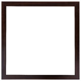 The wooden black frame. Flat design. The wooden black frame isolated on the white background. Flat design Royalty Free Stock Photo