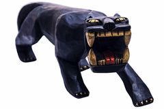 Wooden black panther Stock Photography