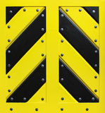 Wooden black and yellow gate Royalty Free Stock Image
