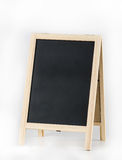 Wooden blackboard isolated on white background Stock Image