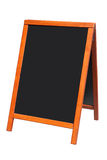 A wooden blackboard sign. Royalty Free Stock Image