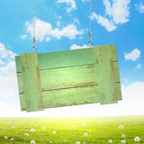 Wooden blank banner Royalty Free Stock Image