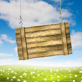 Wooden blank banner Royalty Free Stock Photography
