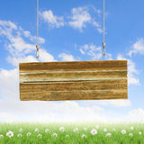 Wooden blank banner Royalty Free Stock Photo