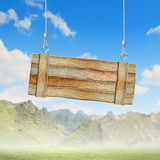 Wooden blank banner Royalty Free Stock Photos