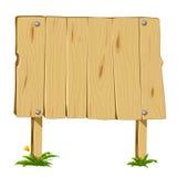 Wooden blank board Stock Image
