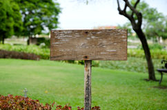 Wooden blank sign Royalty Free Stock Photos