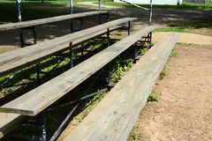 Wooden bleachers Royalty Free Stock Photos