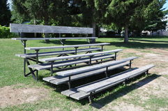 Wooden bleachers Stock Photography