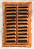 Wooden blinds. Classic wooden blinds close up Royalty Free Stock Photo