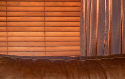 Wooden blinds Stock Photos