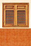 Wooden blinds. Of a house in Puerto Cruz, Spain Royalty Free Stock Image