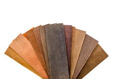 Wooden blinds samples isolated Stock Photo