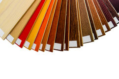 Wooden blinds samples isolated Stock Image