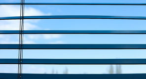 Wooden blinds on the window. Venetian wooden window blinds background Royalty Free Stock Photos