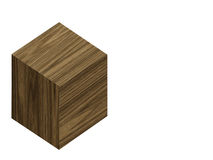 Wooden block. Close up of single wooden block Stock Photos