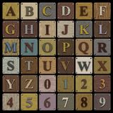 Wooden Block Alphabet Royalty Free Stock Photo