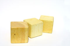 Wooden block. S made to be a toy for children Royalty Free Stock Photo