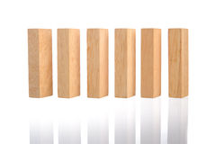 Wooden block building Royalty Free Stock Images