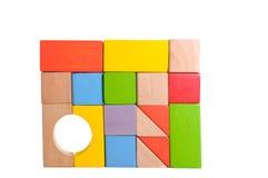 Wooden block stock image