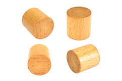 wooden block cylinder shape royalty free stock image