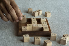 Wooden block game Royalty Free Stock Photography