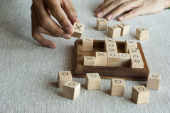 Wooden block game Stock Photos