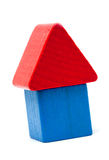 Wooden block house Royalty Free Stock Photo