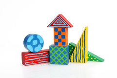 Wooden block houses Royalty Free Stock Image
