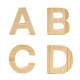 Wooden block letter set isolated Royalty Free Stock Image