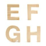 Wooden block letter set isolated Stock Photography