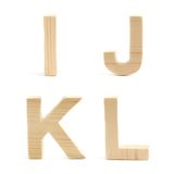 Wooden block letter set isolated Royalty Free Stock Images