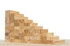 High staircase as a metaphor for the way of the ascent royalty free stock photography