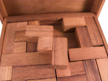 Wooden block puzzle Royalty Free Stock Photo
