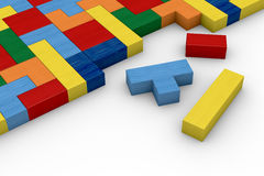Wooden block puzzle Royalty Free Stock Photography