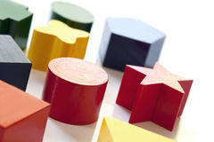 Wooden Block Shapes Royalty Free Stock Image