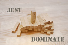 Wooden block with slogan Stock Image