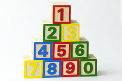 Wooden Block Tower Stock Photography