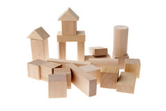 Wooden block toy Royalty Free Stock Photo
