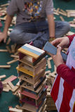 Wooden block toys Royalty Free Stock Photos
