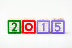 Wooden block for year 2015 Royalty Free Stock Image