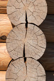 Wooden blockhouse background Stock Photo