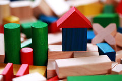 Wooden blocks Stock Images