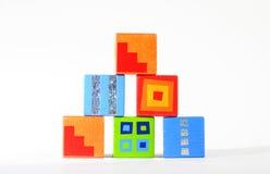 Wooden blocks. Wood blocks royalty free stock image