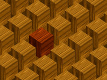 Wooden blocks. With red block standing out Stock Photos