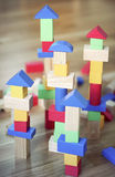 Wooden blocks Stock Photo