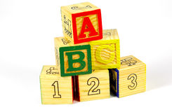 Wooden BLocks Royalty Free Stock Photography