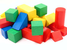 Wooden blocks. Childrens wooden blocks royalty free stock photo