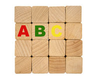Wooden blocks - ABC Stock Photography