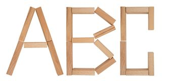 Wooden blocks - ABC Royalty Free Stock Image